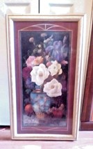 Home Interiors & Gifts.Beautiful Floral Picture Large Rectangle 31 X 18 - $48.49