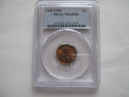 1909 , VDB , Lincoln Penny , PCGS , MS 65 , RD - $195.00