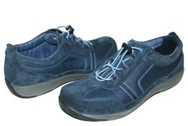 ❤️dansko Helen Bungee Toggle Lace Blue Suede Sneaker 8.5 39 Excellent! L@@K!I - $42.74