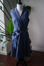 Anne Klein Womens Blue Denim Cotton Wear to Work Dress SZ 8 - $20.89