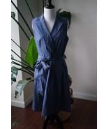 Anne Klein Womens Blue Denim Cotton Wear to Work Dress SZ 8 - $20.89