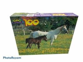 GPC 100 Piece jigsaw puzzle Treasure Club 11X15 Horsing Around - $9.89