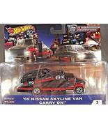 2018 Hot Wheels Team Transport '69 NISSAN SKYLINE VAN CARRY ON Black w/R... - $25.74