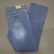 Levi's Jeans Slim Straight Fit Stretch Distressed Girls Size 14.5 Plus 32x27 T - $8.78