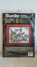 BIRD BATH Bucilla Counted Cross Stitch Kit OOP 1994 Barbara Baatz NEW - $11.99