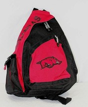 Arkansas Razorbacks Sling Backpack Teardrop Red/Black - $34.99