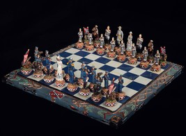 Chess BOARD Civil War Full Size Hand Painted Hand Crafted High Quality - $18.66