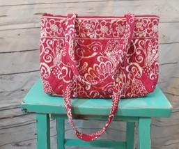 Vera Bradley Mandy handbag in Twirly Bird Pink pattern   - $23.19