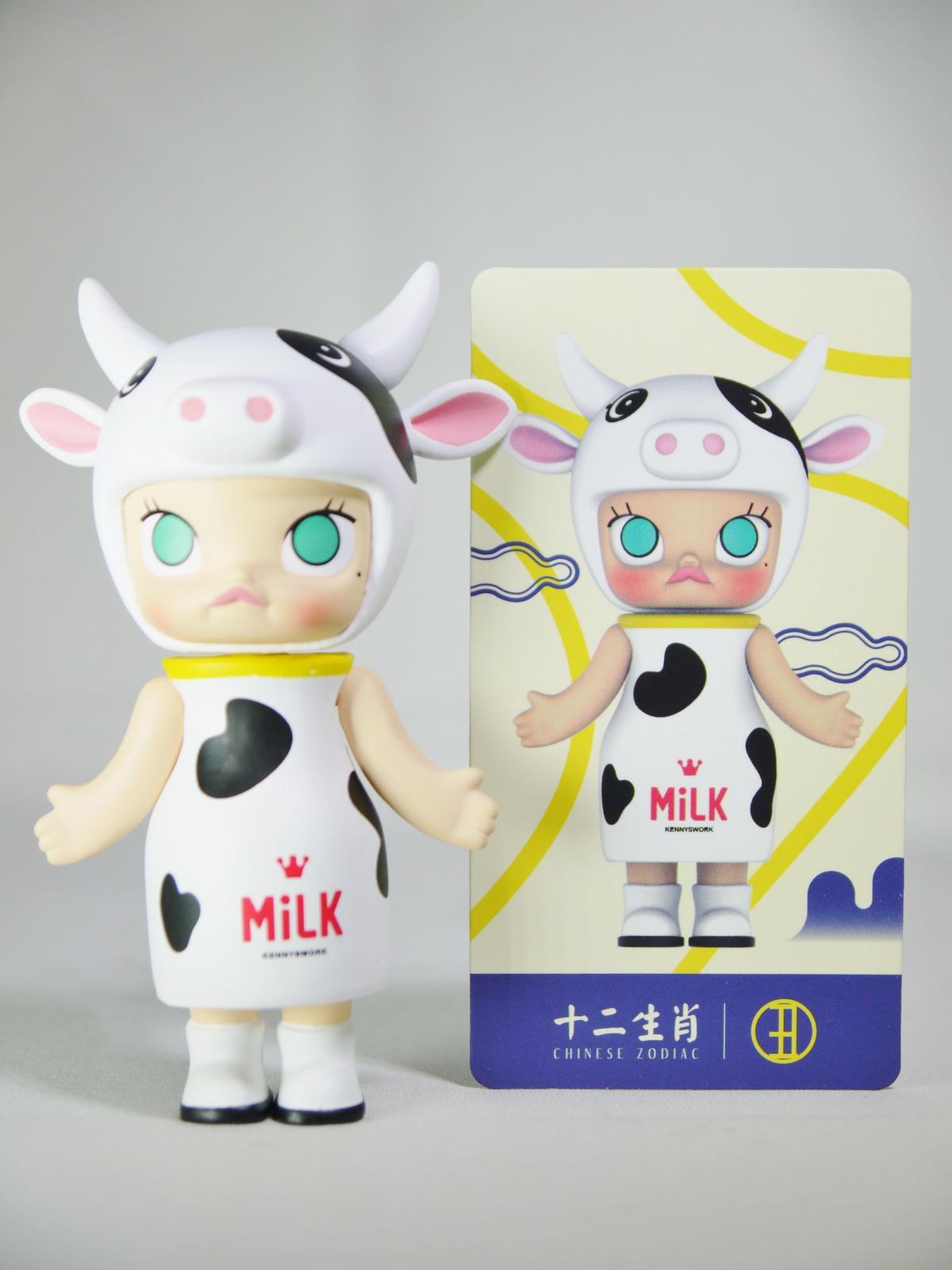 POP MART Kennyswork BLOCK Little Molly Chinese Zodiac OX Cow White Minifigure