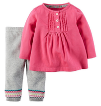 Carter's Baby Girls' 2-Piece Top and Pants set, Size 3 Months, MSRP $34 - $15.83