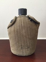 Vintage US Army Military WWII Vietnam War Drinking Canteen w/ Green Cove... - $25.82