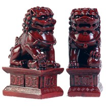 Chinese 4 Inch Fu Temple Dogs Statue - $26.95
