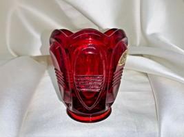 VINTAGE Fenton Art Glass Ruby Glass Votive Toothpick Holder - $22.00