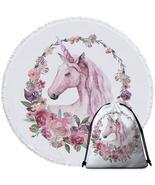 Floral Circle Unicorn Beach Towel - $12.32+