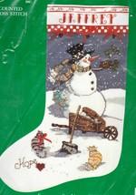 Candamar Snowman Cats Kittens Hope Christmas Cross Stitch Stocking Kit 5... - $42.95