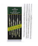 Glow In The Dark Glass Icicle Ornaments, 24-Piece Box Set w - $19.99