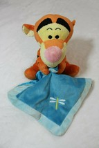 "Disney Plush 8"" Tigger Winnie the Pooh Rattle Toy Lovey Security Blanket... - $17.81"