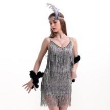 Sexy Woman Refinement Uniform Underwear Tassel Dress Halloween   grey - $39.89