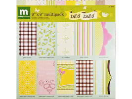Making Memories 8x8 Inch Dilly Dally Specialty Paper Pack, 20 Sheets #36571