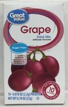 Great Value Grape Sugar Free Low Calorie Drink Mix 0.78 oz - $4.69