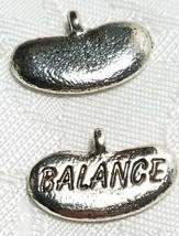BALANCE FINE PEWTER PENDANT CHARM  16.5x11x3mm image 1