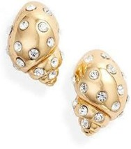 Kate Spade New York Under The Sea Conch Shell Pave Stud Earrings Nwt - $40.00