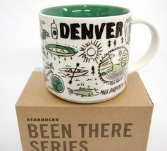 Starbucks Denver Been There Mug Points of Interest Across Globe 14oz Gre... - $31.67