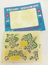 Vintage Vogart Textilprint Embroidery Transfers Violets Roses Bows  - $6.44