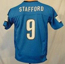 Mathew Stafford #9 Detroit Lions NFL Jersey Youth Size M Team Apparel Blue - $23.61