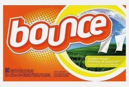 Bounce Fabric Softener SHEETS 80 ct. Outdoor Fresh Wrinkle/Static Remover 80068 - $12.25