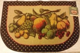 """NYLON PRINTED KITCHEN RUG/MAT (nonskid) (20"""" x 30"""") FRUITS, MOHAWK - $19.79"""