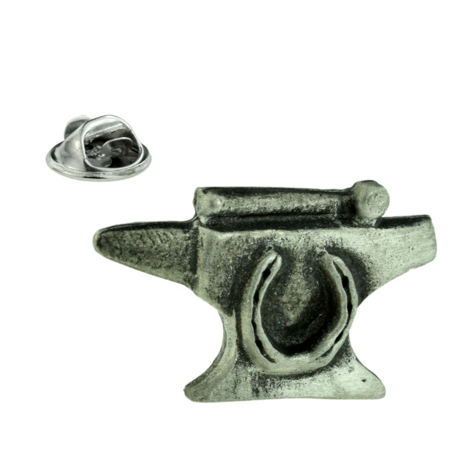Blacksmiths Anvil Pewter small tie pin, Lapel Pin Badge, in gift box