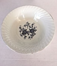 Royal Blue Ironstone Enoch Cereal Bowl Wedgwood Tunstall England Silver ... - $5.89