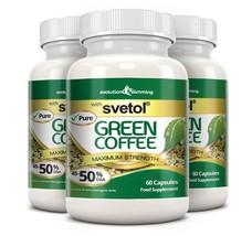 Pure Svetol Green Coffee Bean with 50% CGA 180 Capsules - $77.99