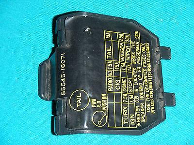 interior fuse box panel access cover 1986 86 toyota tercel sr5 dlx 4wd wagon