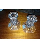 set of 2: decorative mikasa glass candle holders - $49.99