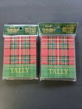 Vintage C.R. Gibson Bridge  Tallies Cards 2 new Sealed Packages Christmas Plaid - $17.99