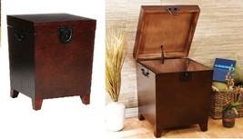 End Table Trunk Storage Organizer Espresso Livi... - $198.90