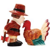 Thanksgiving Turkey Salt & Pepper Shaker Set - Magnetized Holiday Decor - $15.44