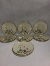 7 pcs. LENOX WESTWIND dinner plate  gold trim 8 inch USA  Mid Century US... - $79.19