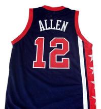 Ray Allen #12 Team USA Men Basketball Jersey Navy Blue Any Size image 2