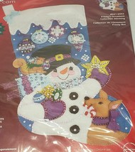 Janlynn Frosty's Ornament Collection Stocking Felt Applique Kit, NEW - $24.99