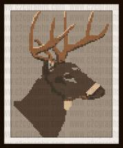 Mule Deer C2C Crochet Graph Pattern Written Words - $5.50