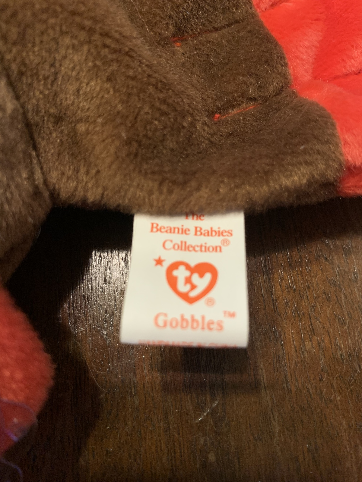 Gracie, Strut and Gobbles Beanie Babies in excellent condition
