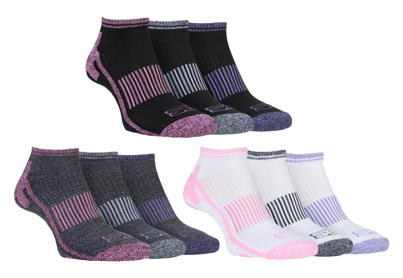 Storm Bloc - 3 Pack Ladies Breathable Padded Low Cut Sports Ankle Running Socks