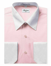 New Open Box Repackaged Men's Long Sleeve Two Tone Dress Shirts Colors image 2