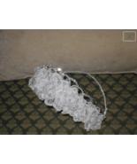 Beaded White Alencon Lace Bridal Headpiece - $48.02