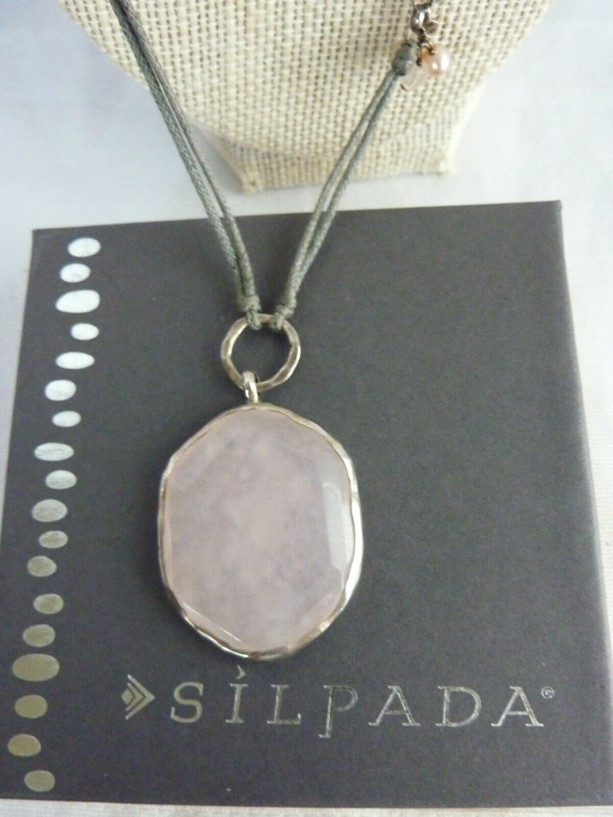 "Primary image for SILPADA Quartz Pink Soapstone Pearl Sterling ""French Cabaret"" Necklace - N2190"