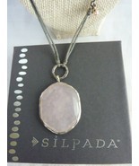 """SILPADA Quartz Pink Soapstone Pearl Sterling """"French Cabaret"""" Necklace -... - $40.45"""