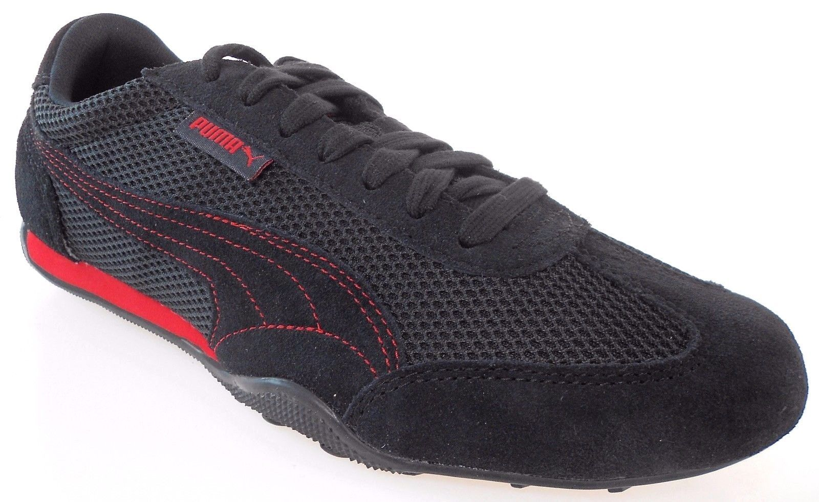 5518f5e8745001 Puma 76 Runner Mesh Men s BLACK RED Shoes and 50 similar items